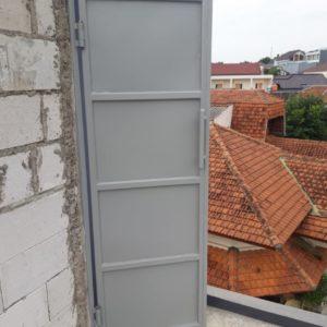 Pintu Besi Plat blok Ngresep Semarang