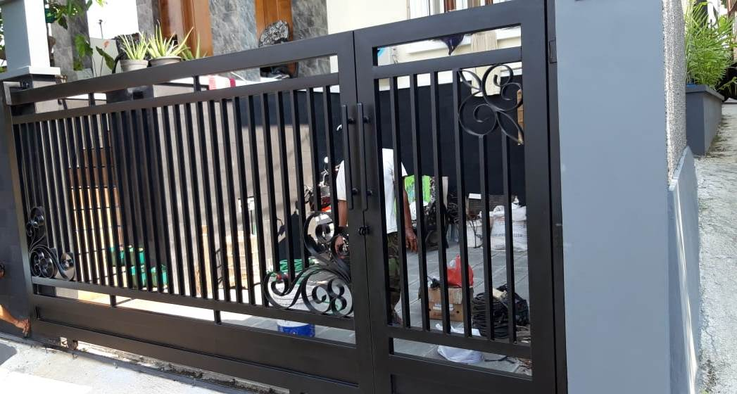 Pintu Minimalis Motif Kembang Papandayan Hanya 700 rb/meter