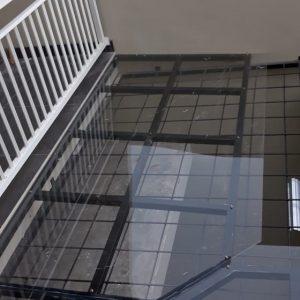 kanopi minimalis atap acrylic bening di bengkel las semarang jawa tengah